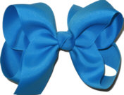 Large Solid Color Bow Aegean Blue