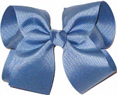 Large Solid Color Bow Antique Blue