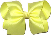 Large Solid Color Bow Baby Maize
