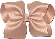 Large Solid Color Bow Beige