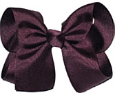Large Solid Color Bow Burgundy