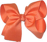 Large Solid Color Bow Burnt Orange