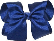 Large Solid Color Bow Century Blue