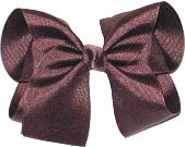 Large Solid Color Bow Chocolate Chip