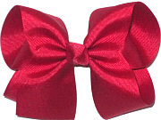 Large Solid Color Bow Cranberry