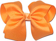 Large Solid Color Bow Creamsicle