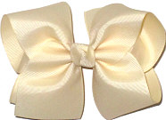 Large Solid Color Bow Creme