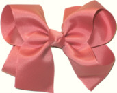 Large Solid Color Bow Dusty Rose