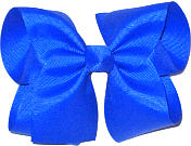 Large Solid Color Bow Electric Blue