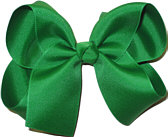 Large Solid Color Bow Emerald