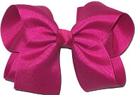 Large Solid Color Bow Festive Fuschia