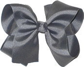 Large Solid Color Bow Flannel Grey