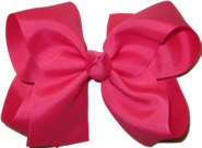 Large Solid Color Bow French Pink