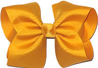 Large Solid Color Bow Gold
