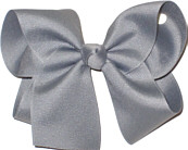 Large Solid Color Bow Grey