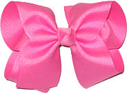 Large Solid Color Bow Hot Pink