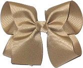 Large Solid Color Bow Khaki