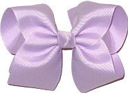 Large Solid Color Bow Lavender