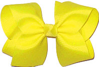 Large Solid Color Bow Lemon