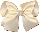 Large Solid Color Bow Light Ivory