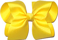 Large Solid Color Bow Maize