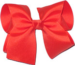 Large Solid Color Bow Mango Tango
