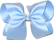Large Solid Color Bow Millenium Blue