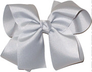 Large Solid Color Bow Millenium Grey