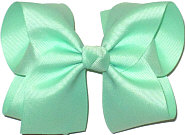 Large Solid Color Bow Mint