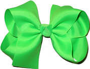 Large Solid Color Bow Neon Green