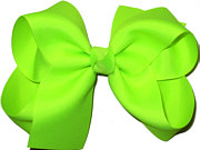 Large Solid Color Bow Neon Lime
