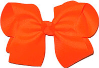 Large Solid Color Bow Neon Orange
