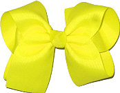 Large Solid Color Bow Neon Yellow