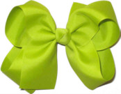 Large Solid Color Bow New Lime