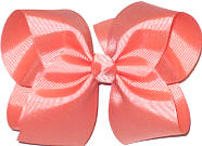 Large Solid Color Bow Peach