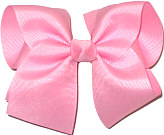 Large Solid Color Bow Pink
