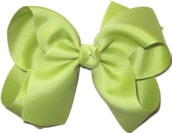 Large Solid Color Bow Pistachio