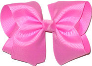Large Solid Color Bow Pixie Pink