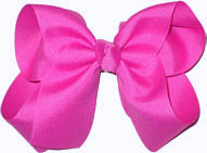 Large Solid Color Bow Raspberry Rose