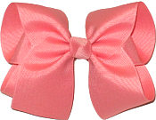 Large Solid Color Bow Shell Pink
