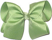 Large Solid Color Bow Spring Moss