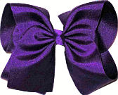 Large Solid Color Bow Sugar Plum