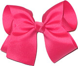 Large Solid Color Bow Tahiti Rose