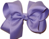Large Solid Color Bow Tropic Lilac