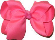 Large Solid Color Bow Tutti Fruity