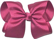 Large Solid Color Bow Victorian Rose