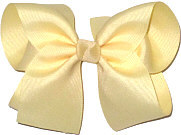 Large Solid Color Bow Wheat