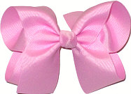 Large Solid Color Bow Wild Orchid