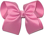 Large Solid Color Bow Wild Rose