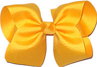 Large Solid Color Bow Yellow Gold